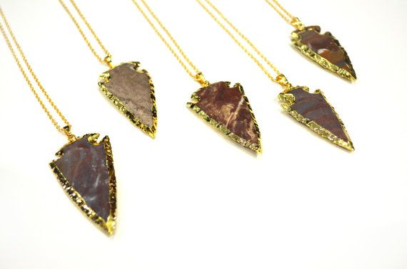 OOAK Precious Stone Necklaces Red Jasper Gold by thirdeyeprism