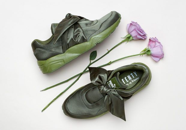 Rihanna and PUMA keep the bold and unique sneaker styles coming with their next drop, the Bow Sneaker and Slide. The latest boundary-pushing design by Rihanna's PUMA line features a silky satin upper in pink or olive with for the … Continue reading →