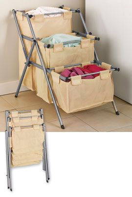 Folding 3-Tier Hamper makes doing laundry fast and easy. Maybe a different color?