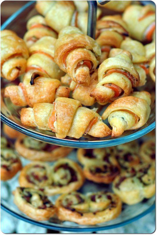 Mini croissants feuilletés philadelphia-saumon fumé