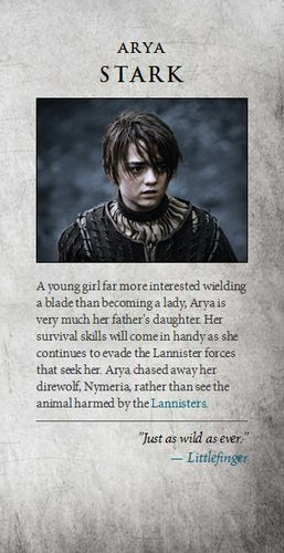 Game of Thrones images Arya Stark wallpaper and background photos