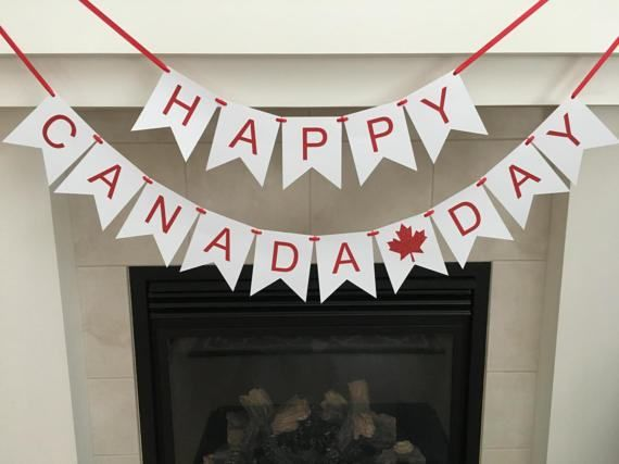 Happy Canada Day Banner Canada Day Celebration by BannersbyBrandi