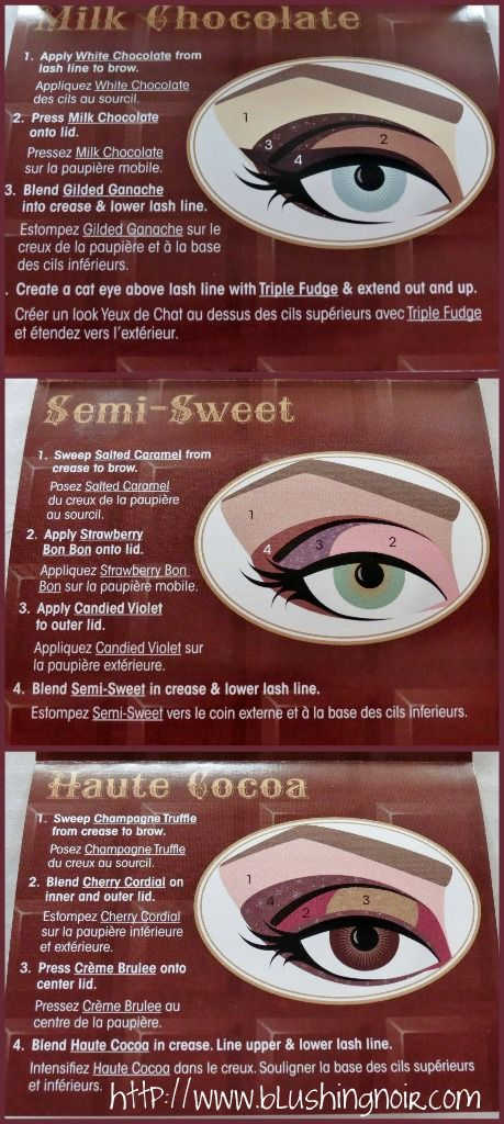 Too Faced The Chocolate Bar Eye Palette Swatches, Review & EOTD - Blushing Noir