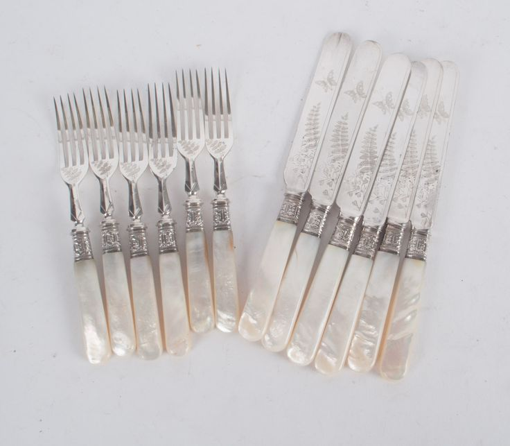 17 best images about pearl handled flatware on pinterest flatware sterling silver and sheffield - Pearl handled flatware ...