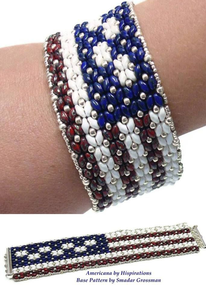 17 best images about bead patriotic usa on pinterest for Patriotic beaded jewelry patterns
