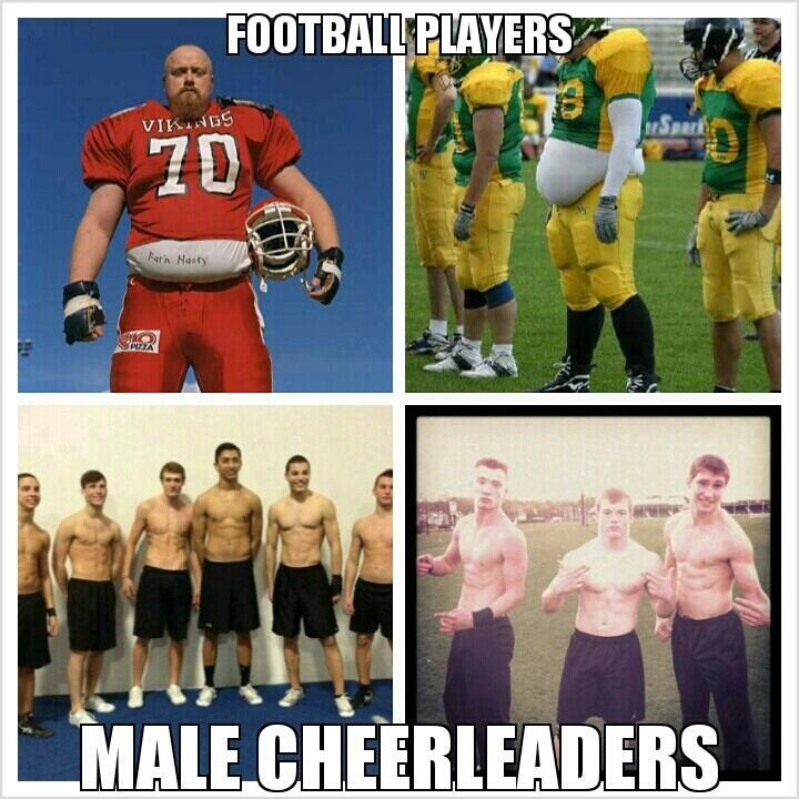 Your argument is officially invalid Male cheerleaders
