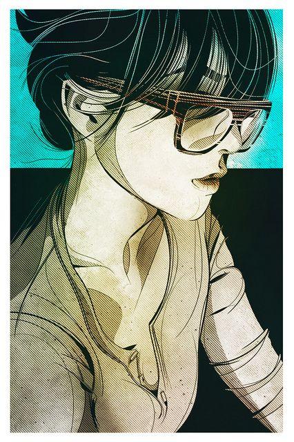 by César Moreno: Graphics Novels, Drawings, Ilustracion, César Moreno, Digital Art, Cesar Moreno, Illustrations Girls Glasses, Portraits, Digital Illustrations