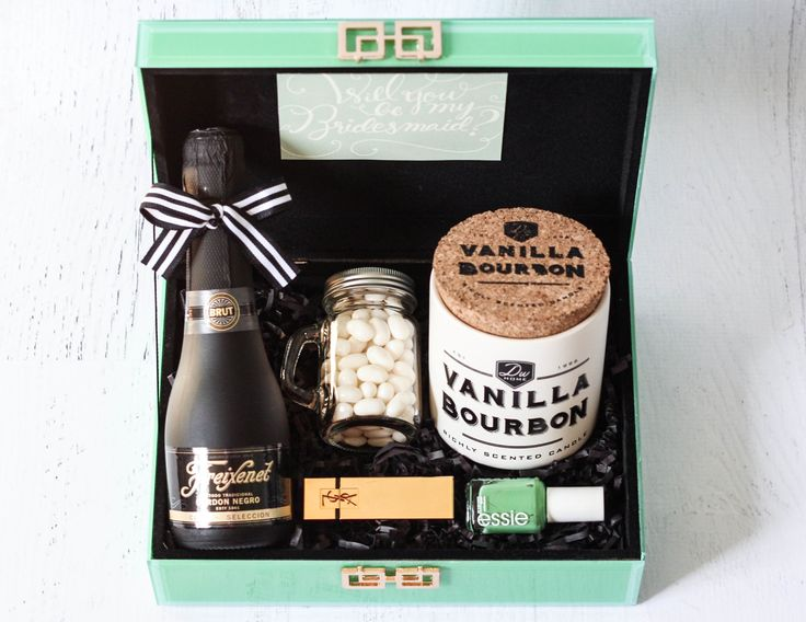 Will you be my Bridesmaid Freixenet champagne gift box tutorial DIY 5