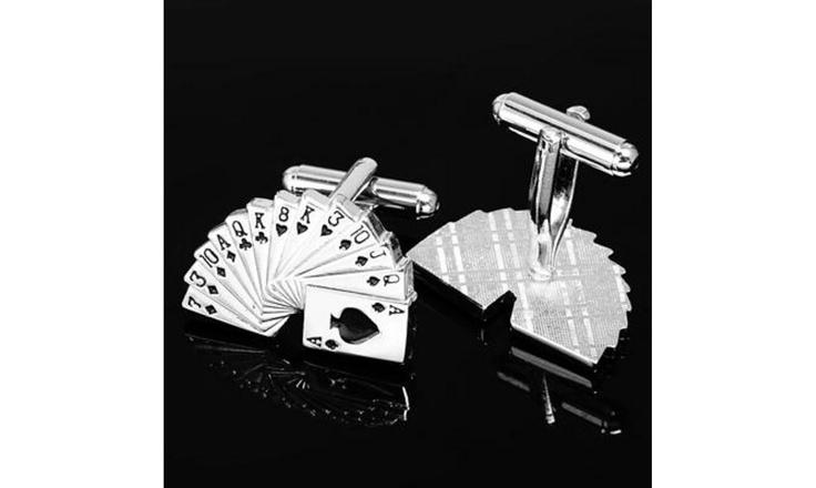 Boutons de manchettes jeu de carte Mariage Las vegas