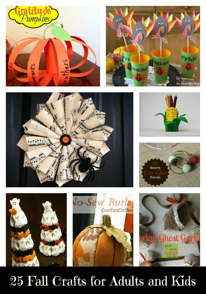 an amazing roundup of 25 fall crafts for adults and children turn a rainy day