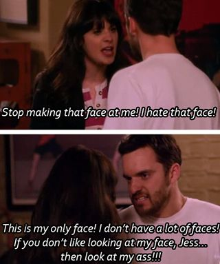 New Girl! Love this part and the part that comes after.... he looks soo much hotter with that beard!!