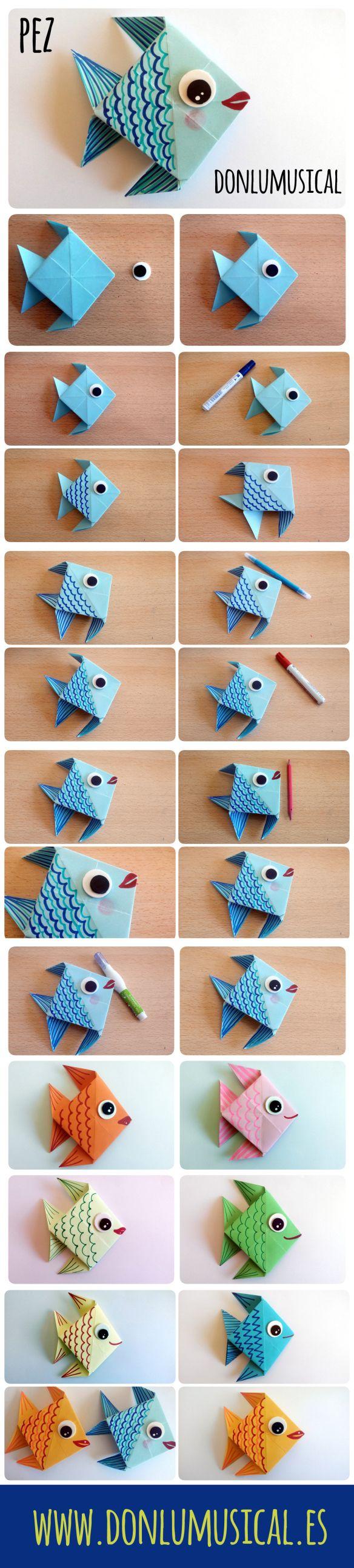 tutorial origami papiroflexia pez
