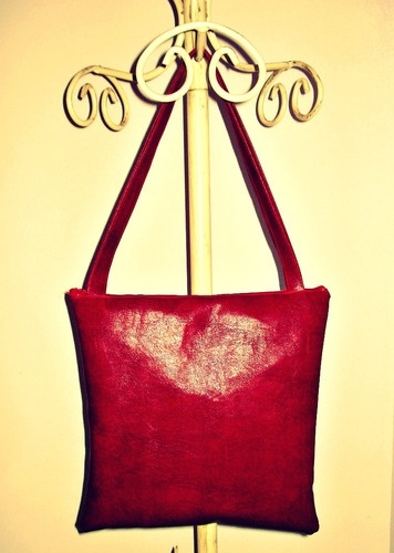 lovely red eco leather