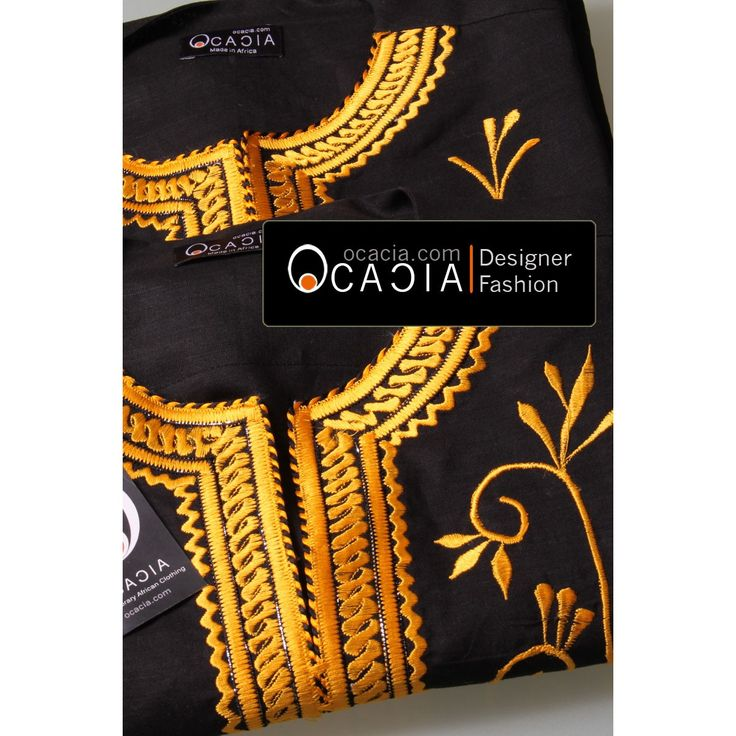 African Floral Men's Dashiki Linen African Fashion Tops