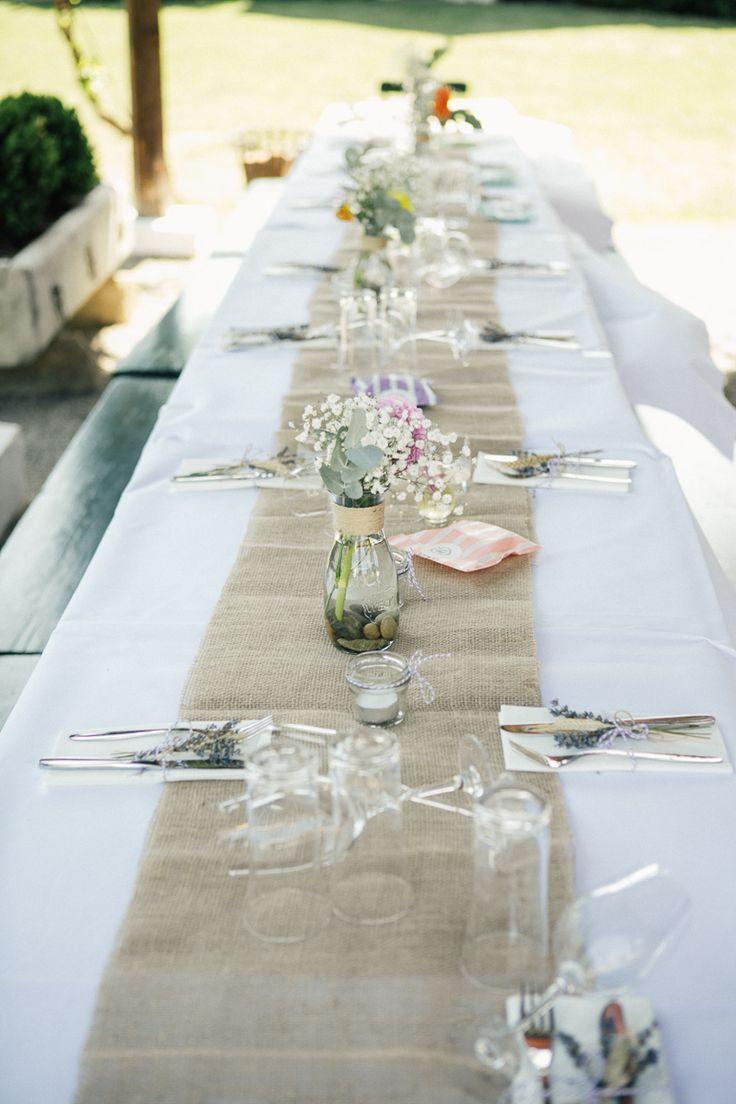 #tischdeko DIY Gartenhochzeit auf dem Weingut von Kalinka Photographie | Hochzeitsblog - The Little Wedding Corner