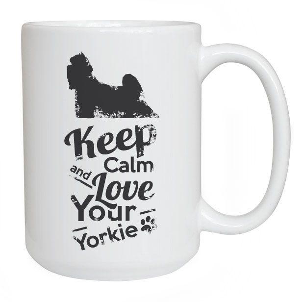 Keep Calm Mug with Yorkie. Worldwide delivery! #keepcalm #mug #york #yorkie #yorkshireterrier (Kubek keep calm z yorkiem #kubek #kuchnia #dom #pieseł #wnętrze) https://www.petside.pl/produkt/1581
