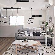 ハーフムーン柄/ダイニング照明/レターバナー/クッションカバー/IKEA…などに関連する他の写真