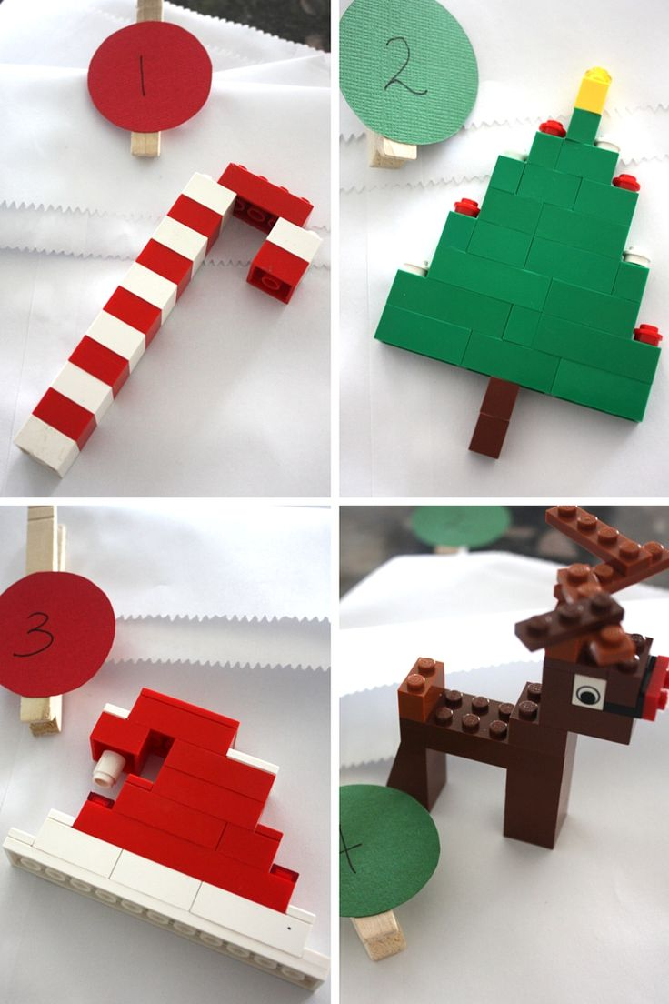 LEGO Countdown Calendar Building Ideas Reindeer Hat