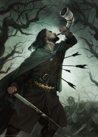 Boromir alternative card art (The Lord of the Ring LCG) © 2016 Fantasy Flight…                                                                                                                                                                                 Plus