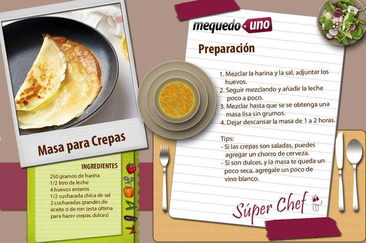 Recetas del verano mequedouno masa para crepas blog - Ingredientes para crepes ...