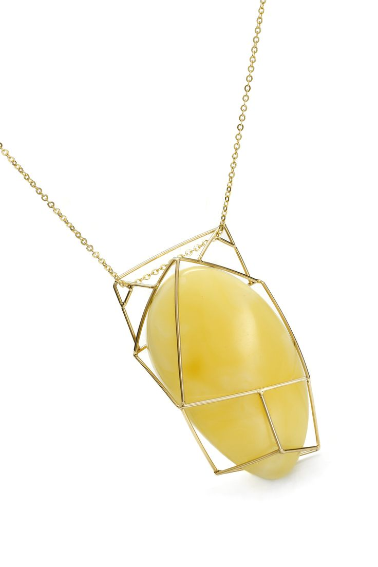 GEOAmber Neckless  Authentic Amber Collection. 14K Gold