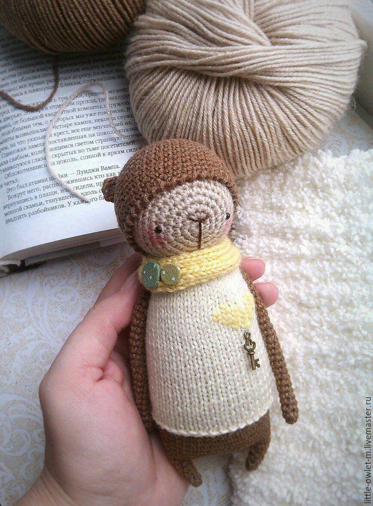 Купить Мишка - бежевый, мишка, медвежонок, медведь, амигуруми, игрушки крючком, вязаные игрушки