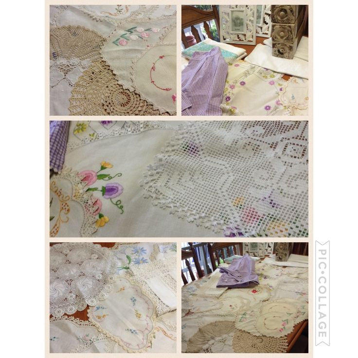 Beautiful vintage linens at my stall right now