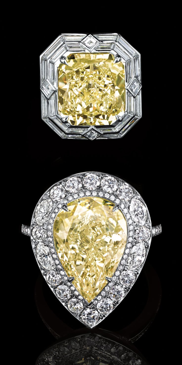 Tiffany Yellow diamonds are rarer than rare, making these spectacular rings exceptional treasures.