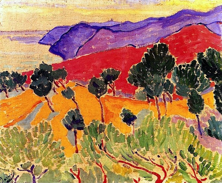 Landscape by the Sea- The Côte d'Azur near Agay / Andre Derain - 1905