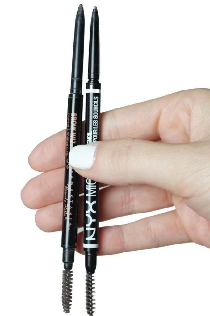 NYX Micro Brow Pencil is a great dupe for the Anastasia Brow Wiz (and it comes in auburn for redheads!)