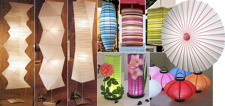 This website has so many different types of paper lanterns
