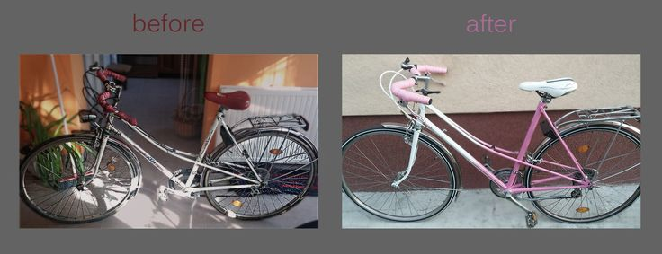 Re-cycling:) I got a used bike, and we decided to fix and make a new design for it.