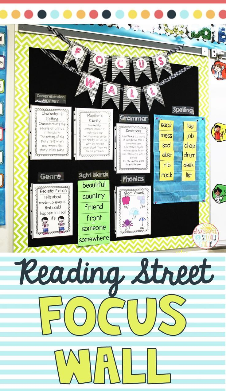 Help focus your teaching and ELA skills for the week by creating a focus wall in your classroom! This goes perfectly with the Second Grade Reading Street curriculum.