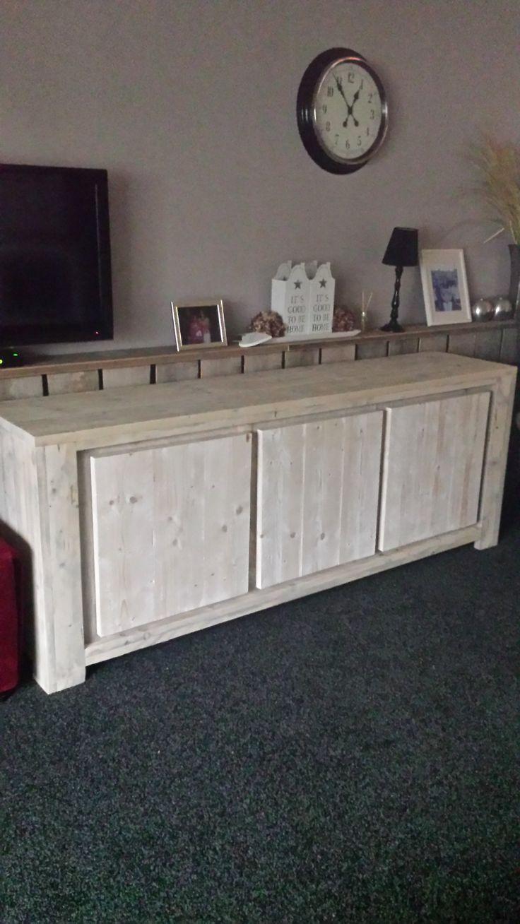 Steigerhouten dressoir 220x50x85 jgsteigerhout@gmail com   steigerhout   Pinterest