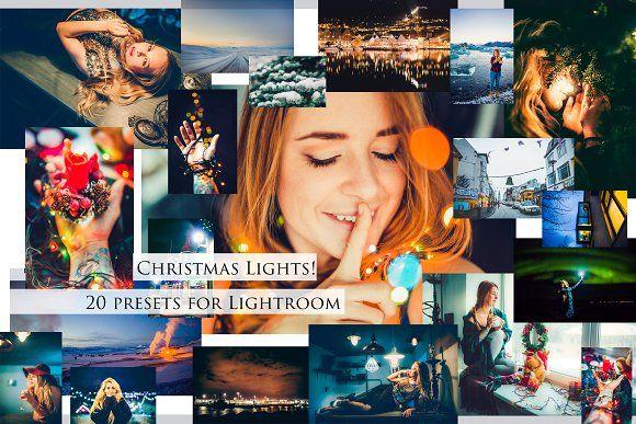Christmas Lights- Set of Presets by Krisp_Krisp on @creativemarket