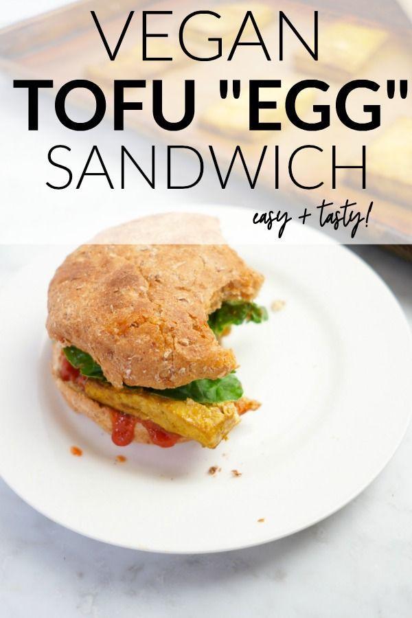 Vegan Tofu Egg Sandwich