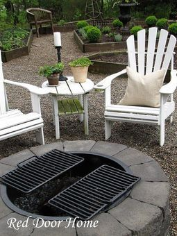 firepit w/ grills - great idea!