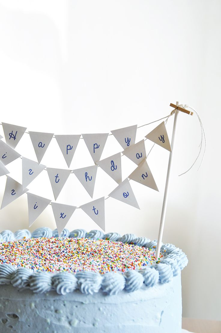 What's Up with The Buells: FREE PRINTABLE: BIRTHDAY CAKE PENNANT TOPPER