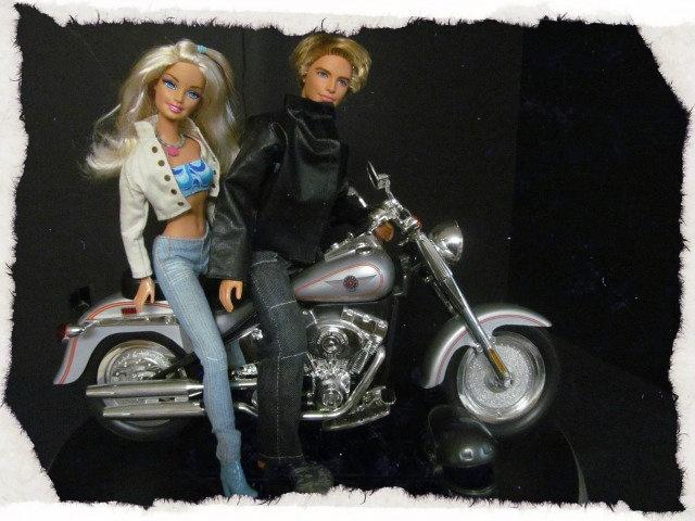 Harley Fat Boy Motorcyle for Ken & Barbie