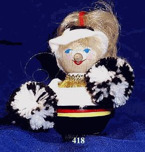 Cheerleader Steinbach Ornament