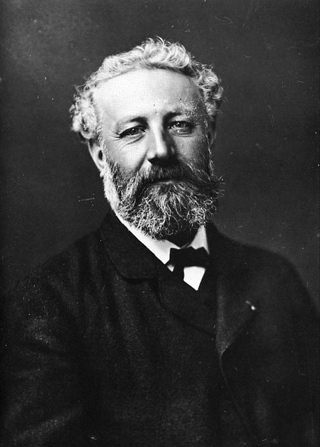 Jules Verne (1928-1905) - French novelist, poet, and playwright best known for his adventure novels and his profound influence on the literary genre of science fiction. Photo by Félix Nada