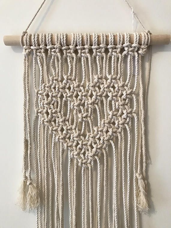 Macrame Heart Wall Hanging Macrame Patterns Macrame Wall