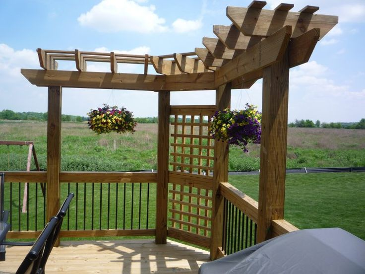 41 best pergolas garden architectural elements images on for L shaped pergola