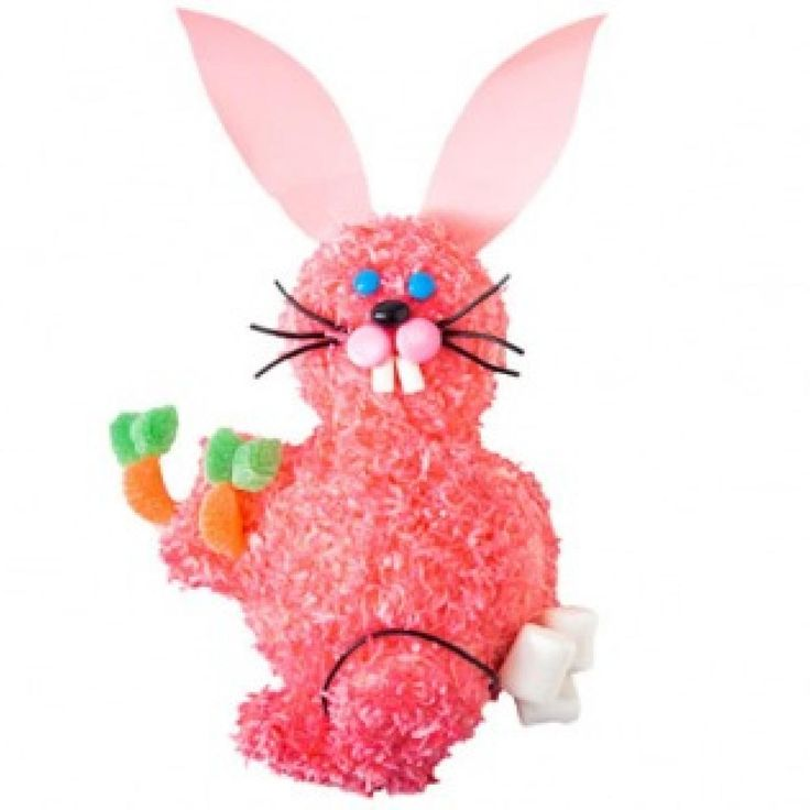 How to make a pink bunny cake for birthdays or Easter with Ring Dings and marshmallows - parenting.com