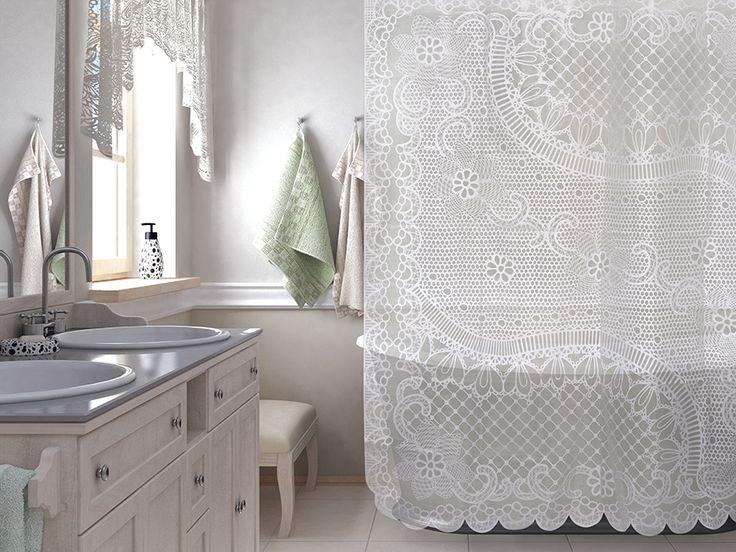 WESS Frivolite - занавеска для ванной комнаты из пластика 180х200 см. Цена 1150р. Посмотреть на сайте: http://likemyhome.ru/catalog/shtorki-karnizy-kolca/00003179 #likemyhome #showercurtain #bathroomdecor #interiorstyle #wess #frivolite