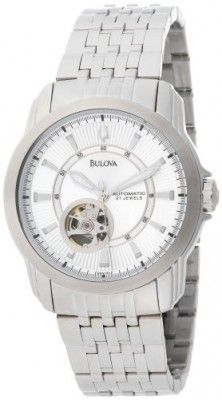 Relógio Bulova Men's 96A100 Automatic Self-Winding Mechanical Exhibition Caseback Bracelet Watch #Relogios #Bulova