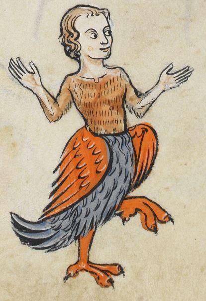 Una Arpía aspecto bastante agradable. / Un viaje por la vida medieval octavia.net