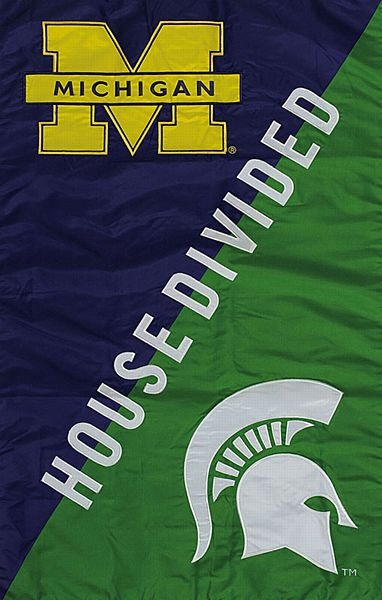 U of M / MSU House Divided Garden Flag | Michigan state ...