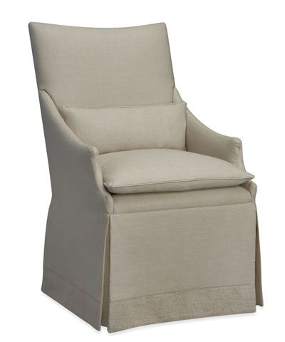 Arlene Castered Chair In Patton Flax   FURNITURE   Seating   Occasional  Chairs