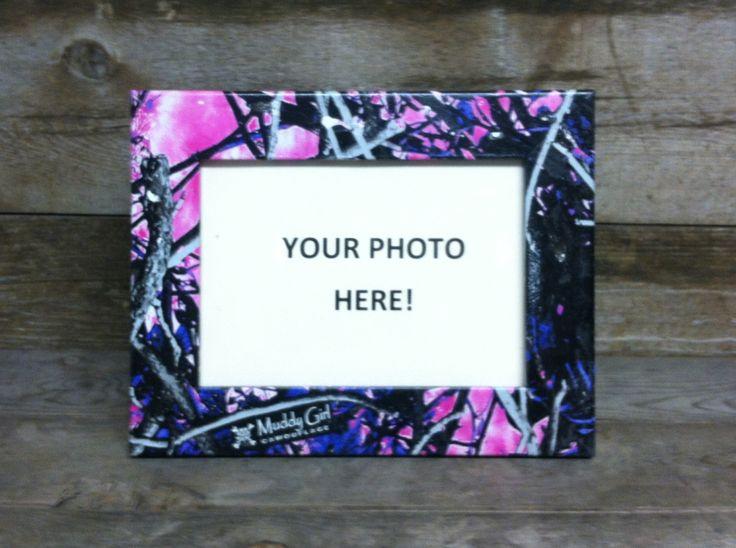 Muddy Girl Camo Photo Frame by MyHuntingMarketplace on Etsy, $14.00